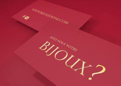 Carte Promo Bijoux Wine